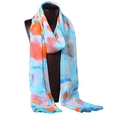 écharpes douces chaudes de georgette en soie d'écharpe de protection de madame sun. 180 * 55cm