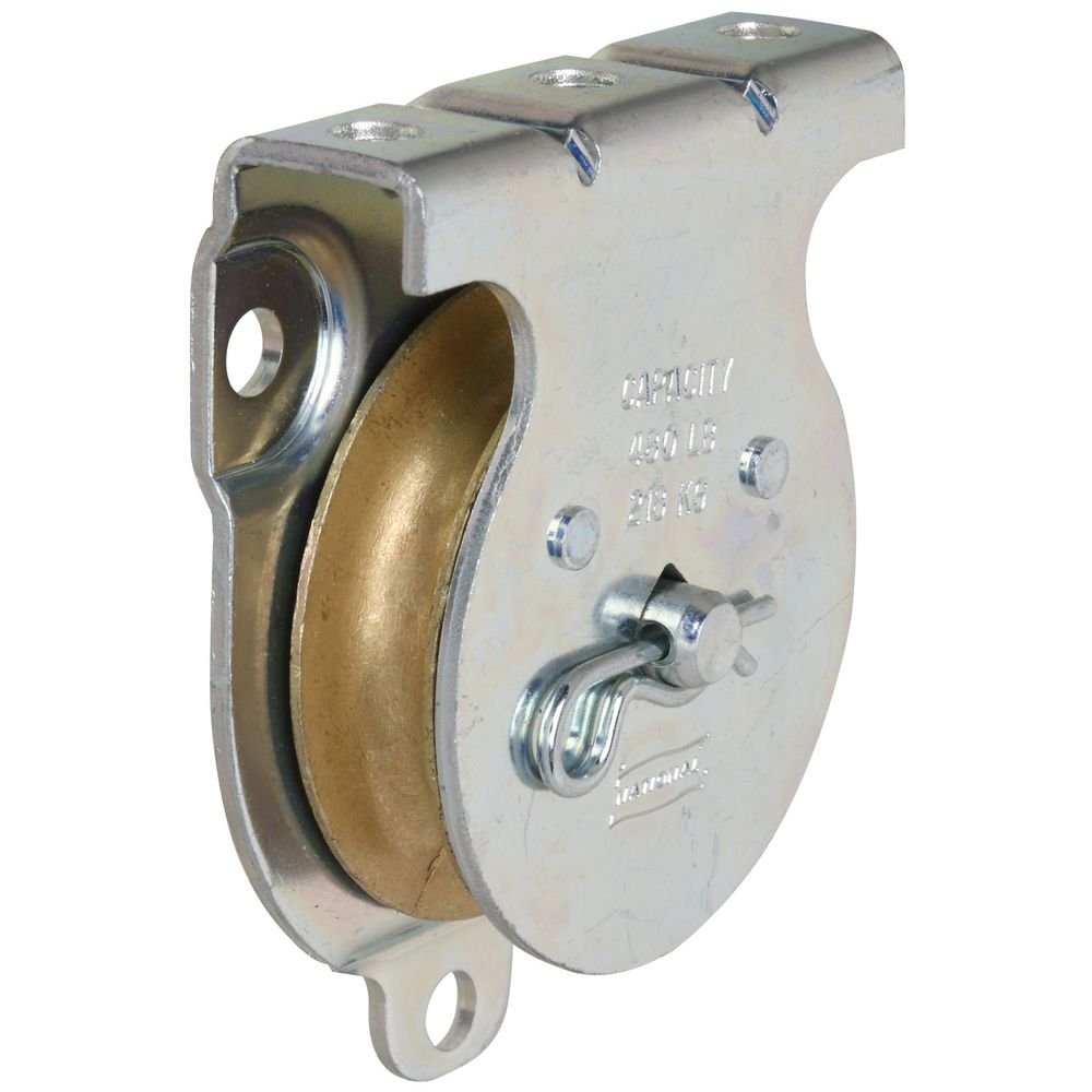 Stanley National Hardware 3219BC 2' Zinc Plated Wall/Ceiling Mount Single Pulley N233-254