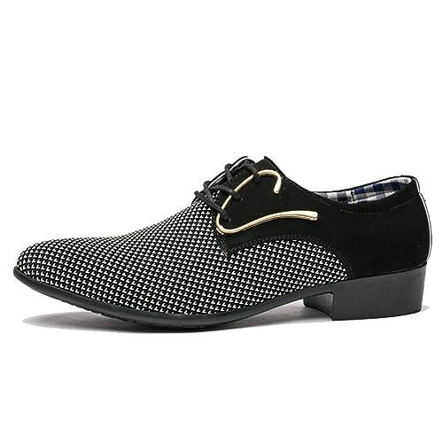 Zapatos de Cuero de los Hombres Oficina Vestido de los ...