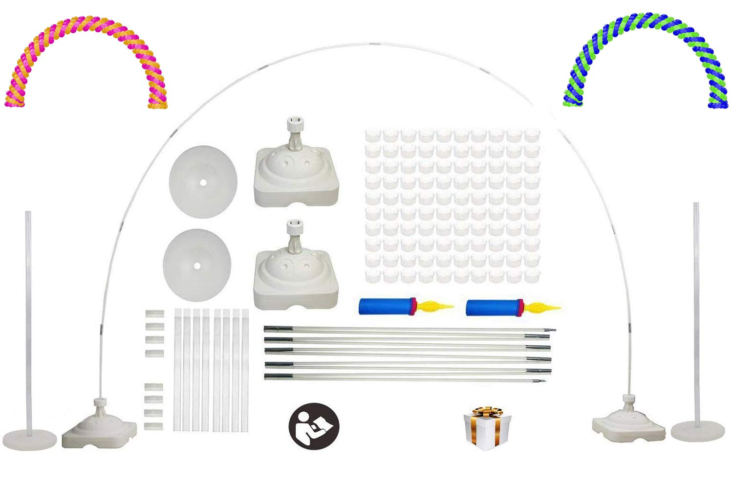 LANGXUN Large Size Balloon Arch Kit And Balloon Column Stand Kit For Birthday Decorations Wedding Decorations Event Party Supplies Graduation Party Decorations