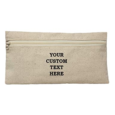 b877475e6059 Amazon.com: Custom Text Personalized Lettering Cotton Canvas Makeup ...
