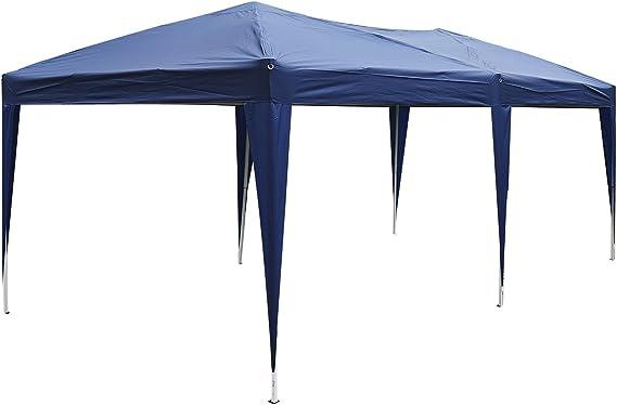Outsunny Carpa Cenador para Exterior 6x3m Plegable en Acordeón Gazebo Pabellón para Jardín Camping Fiesta Tienda Eventos Boda con Pegatinas ...