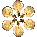 OnlineTek Bombillas Edison Vintage E27 220V G80 Luces de Bulbo del Filamento de Tungsteno Bombilla Incandescente de Base…