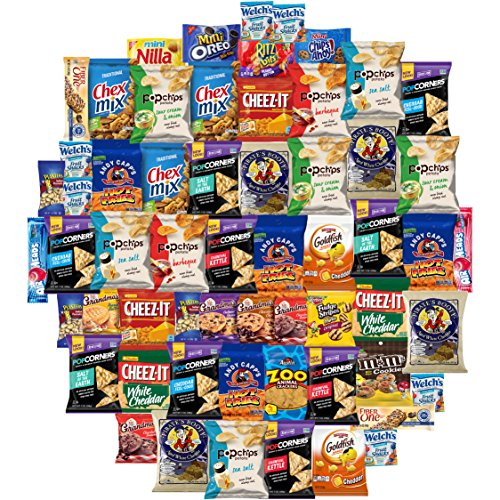 Munch On Care Package Assortment Includes Snacks Cookies Candy Crackers & More (65 Count)