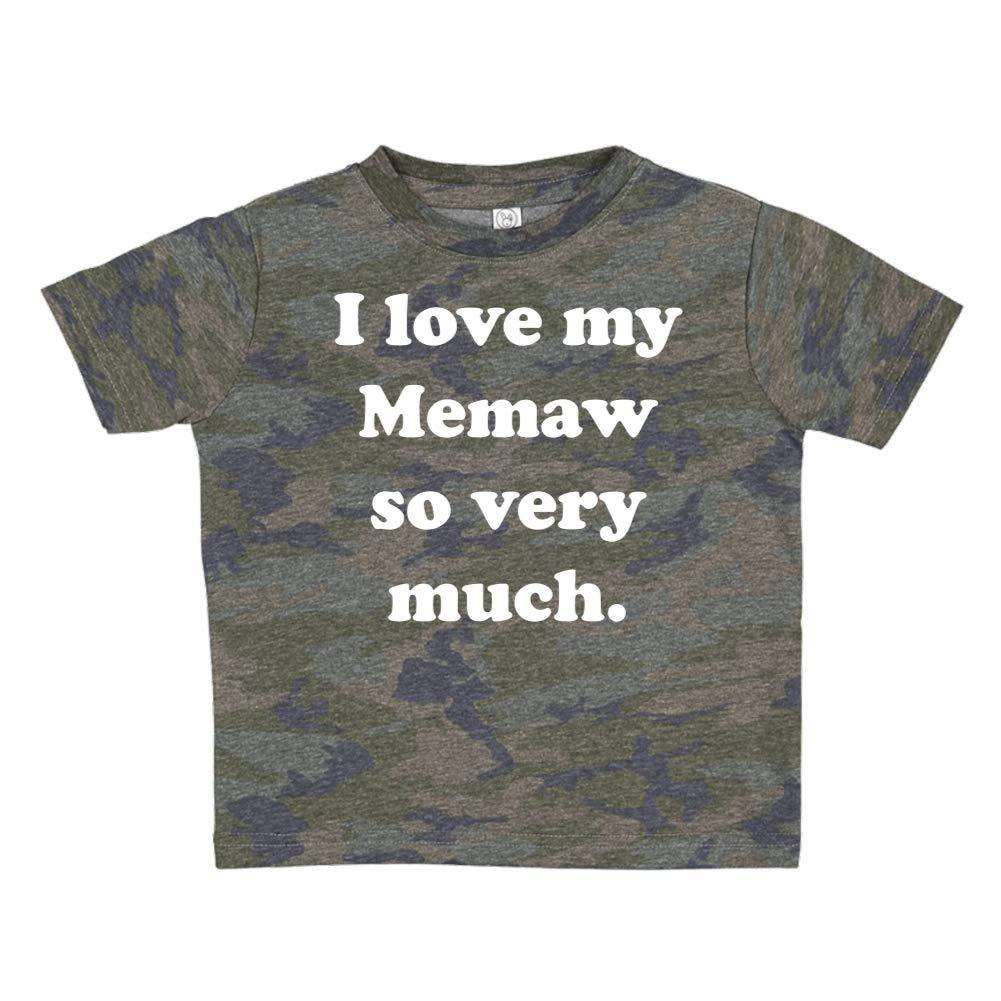 I Love My Memaw So Very Much Toddler//Kids Short Sleeve T-Shirt