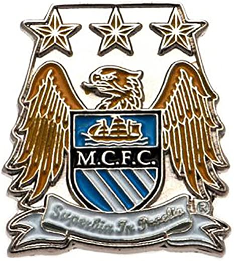 Official Manchester City Pin Badge Amazon Co Uk Sports Outdoors