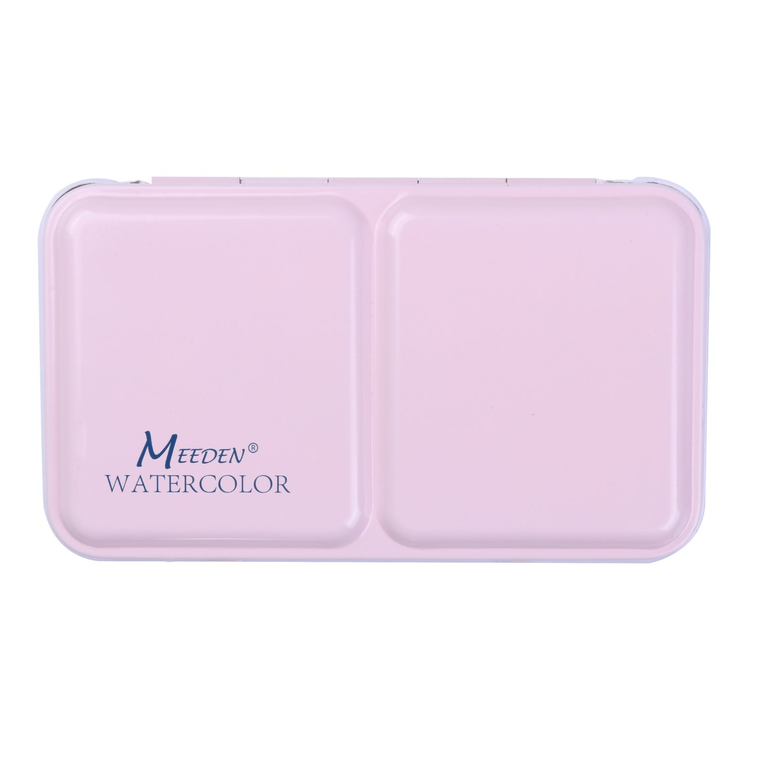 MEEDEN Empty Watercolor Tins Box Palette Paint Case Small Pink Tin with 12 Pcs Half Pans