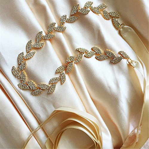 S Belt Bridal S198 Sash Dress ULAPAN Crystals Wedding Ivory Women's Crystals Sash Belt z1PRF