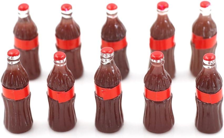 24 Pcs Resin Flatback Coke Miniature Cola Bottles Beverage Drinks Dollhouse Food Charm Art Album Phone Scrapbooking Hair Clip Hairpin Sewing DIY Craft Accessory Jewelry Decoration Dollhouse Ornament