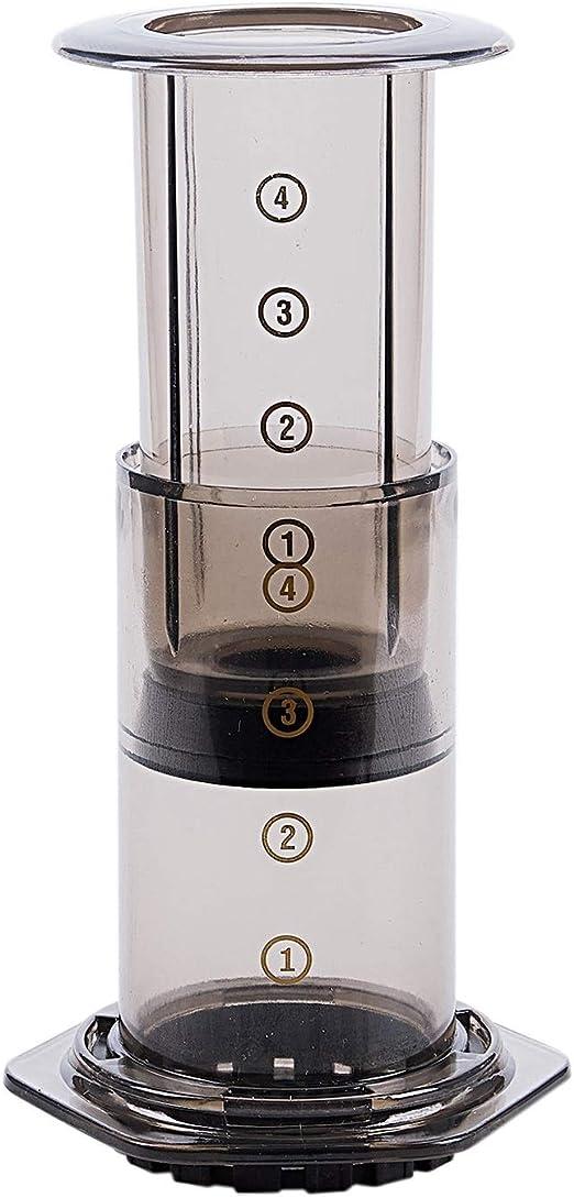 Xf Portátil Cafetera Filtro de café Press café del pote del café de la máquina de Papel de Cocina Set Mini Manual Aire Prensa de Goteo Cafetera exprés (Color : Black): Amazon.es: