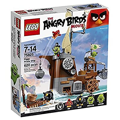 LEGO Angry Birds 75825 Piggy Pirate Ship Building Kit (620 Piece): Toys & Games