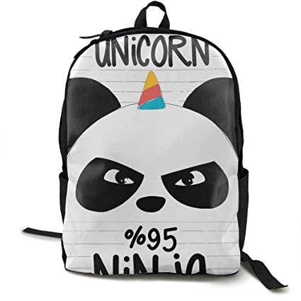 Amazon.com: Klnsha7 Laptop Backpack Ninja Panda Unicorn ...