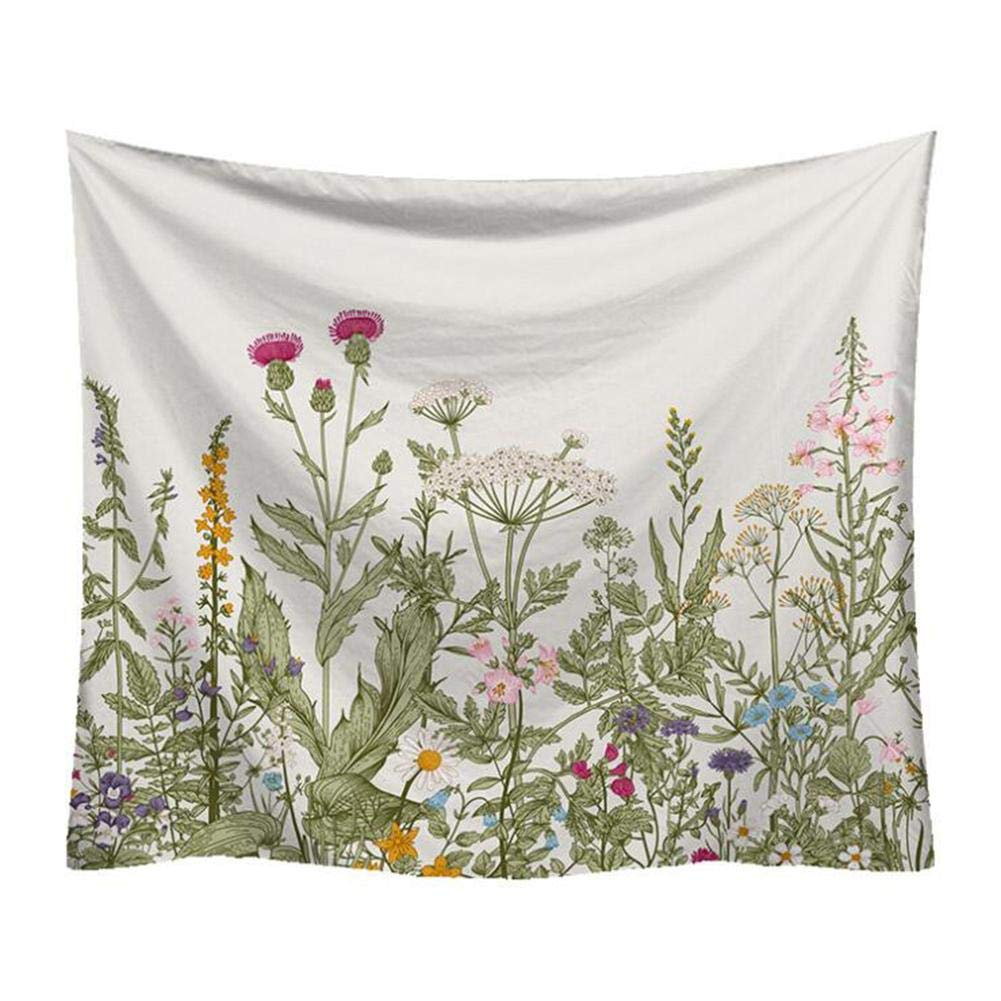 Reatzhen Wall Hanging Colorful Floral Plants Tapestry Digital Printed Wall Hanging Tapestry for Living Room Bedroom Decoration by Reatzhen