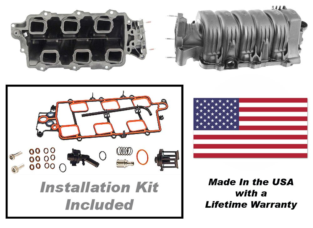 APDTY 726291 Intake Manifold Kit Includes Gaskets & PCV Valve (USA Made) (Improved Thicker Wall & EGR Design Prevents Any Future Leaks) Fits 1995-2005 GM 3.8L 3800 2nd Generation Engine