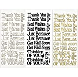 press on decals - Hot Off The Press Dazzles Stickers, Everyday Greetings, 3-Pack