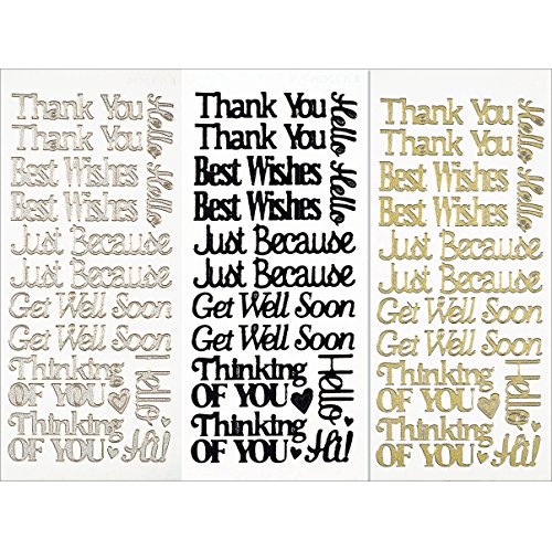 Hot Off The Press Dazzles Stickers, Everyday Greetings, 3-Pack