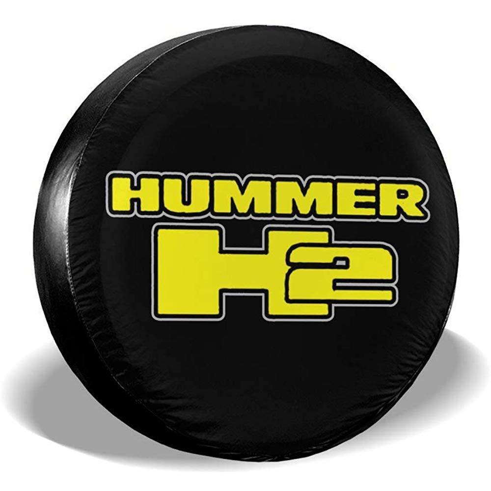 ETGeed Cubierta del neum/ático de Repuesto Hummer H2 Block Logo Protector de neum/áticos de Rueda de Ajuste Universal a Prueba de Polvo