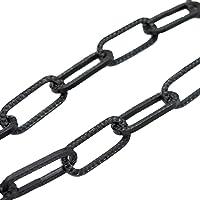 Lampenketting zwart gehamerd 1,5 m ø 3 mm gestructureerde ijzeren ketting ringketting lichtketting draagkracht 5 kg