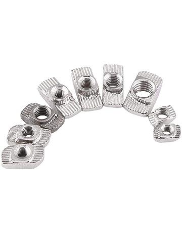 INCREWAY 10 Piezas M8 T Tornillos M8*25 Acero al Carbono Tornillo tipo T para Perfil de Aluminio con Ranura en T Est/ándar Europea de la Serie 40