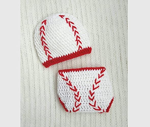 1ad53614fbd Image Unavailable. Image not available for. Color  Baseball baby hat and diaper  cover
