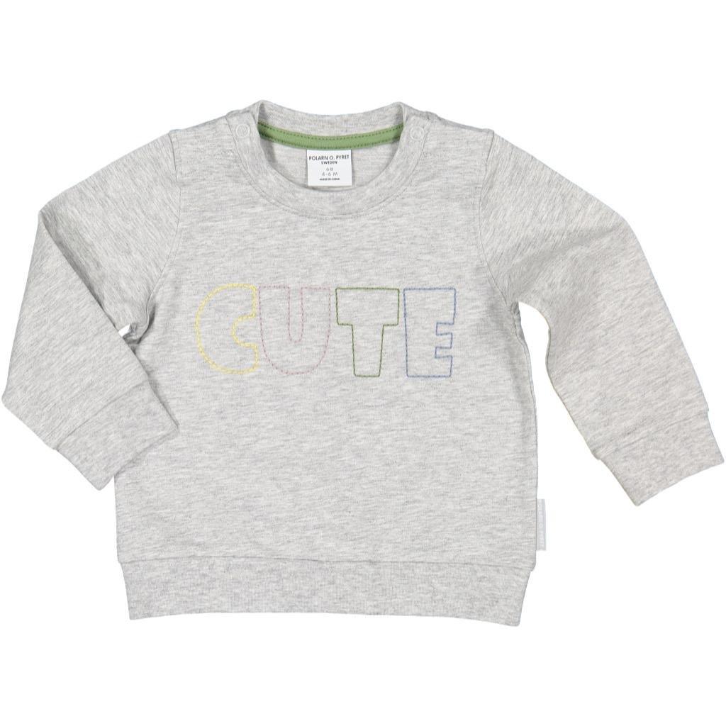Newborn Pyret Softy Sweatshirt ECO TOP Polarn O