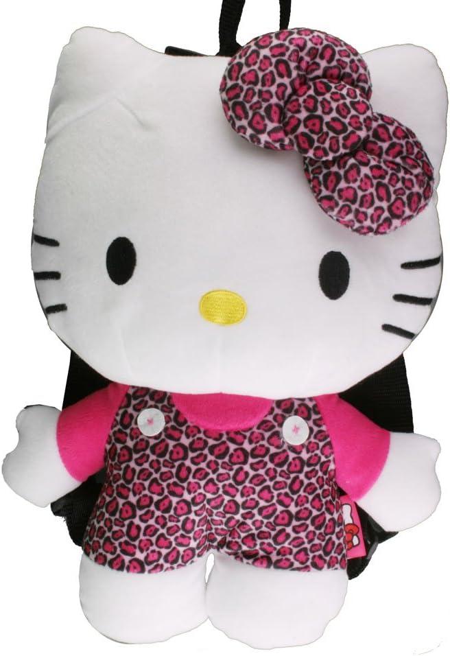 Hello Kitty Leopard Plush Backpack