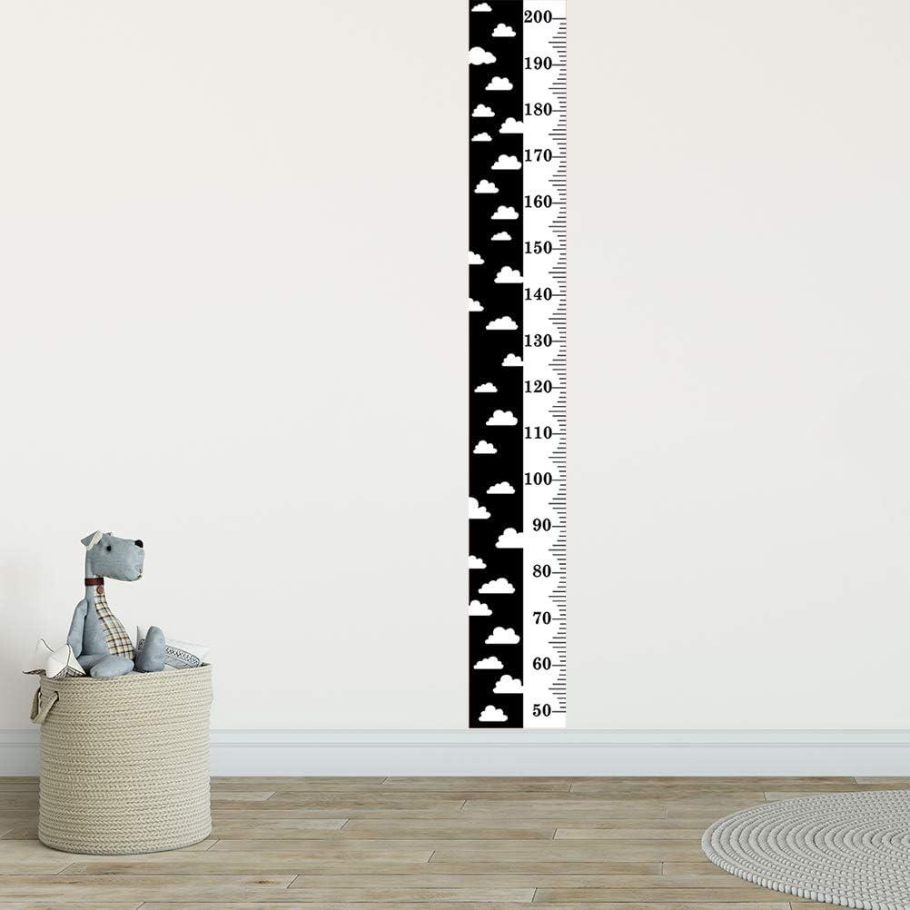 SUPVOX Medidor de Altura Tabla De Crecimiento Infantil Regla de Altura Pegatinas de Pared Pintura Decorativa de Ni/ños Negro 152x21x2cm