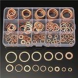 QOJA 150pcs solid copper washers sump plug assorted washer set