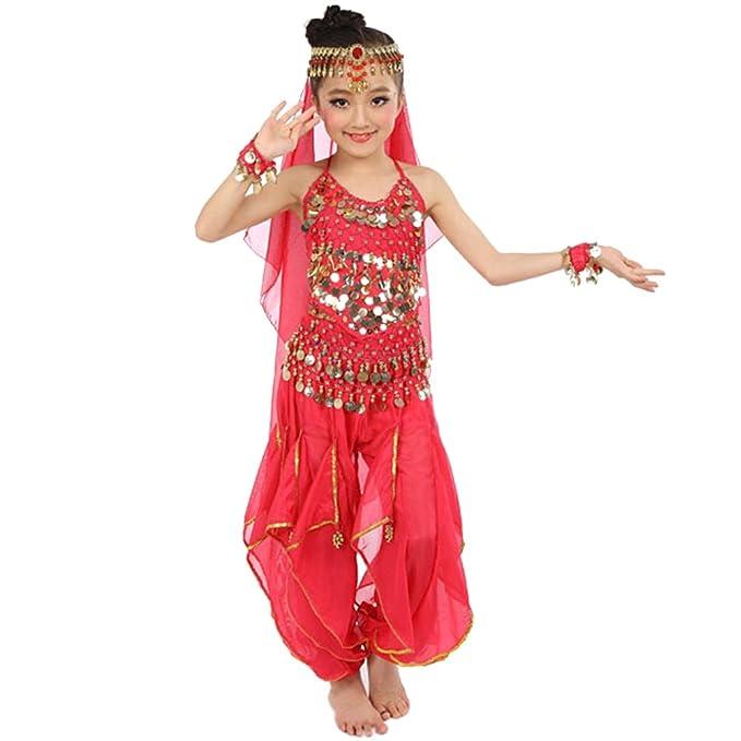 KINDOYO Niños Niña Traje de Danza del Vientre Egipto Trajes ...