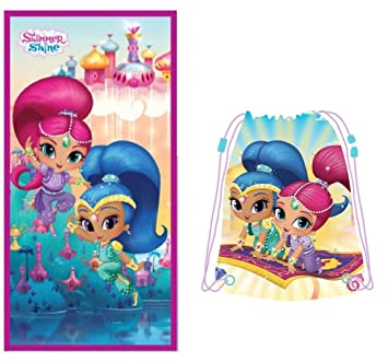 Nickelodeon Shimmer and Shine Toalla de Playa + Bolsa de Playa: Amazon.es: Hogar