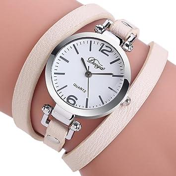 Las mujeres estudiantes de diamantes relojes Sonnena señoras pulsera del círculo reloj analógico reloj