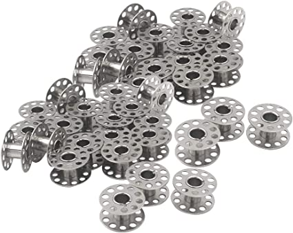 40 Pcs Sewing Machine Bobbins Metal for Brother Singer Janome Kenmore with Case