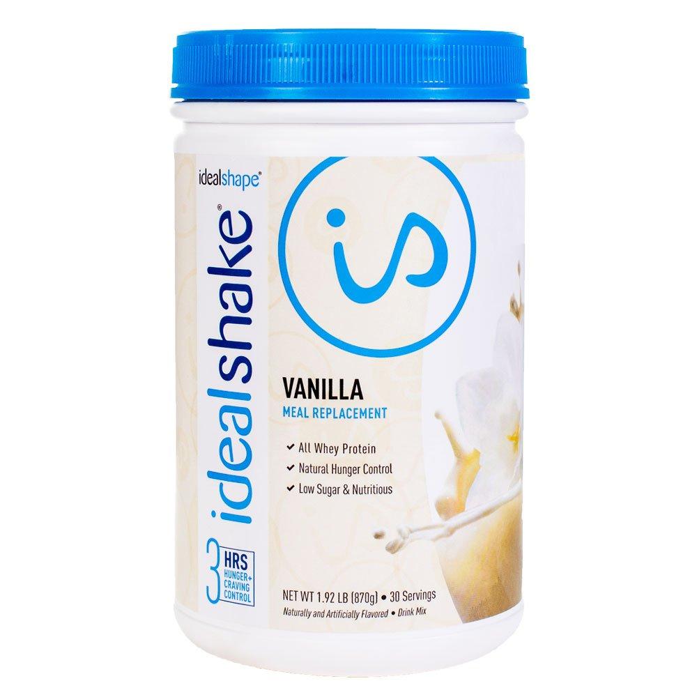 IdealShake, Meal Replacement Shake, Vanilla, w/ Hunger Blocker, 30 Servings