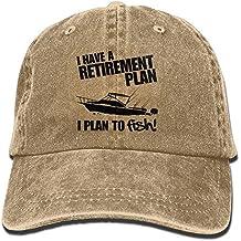 Retirement Plan About FishingAdjustable Unisex Baseball Cap Snapback Hat Cotton Denim Cap