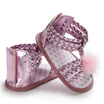 b8f79e7e12b0 Newest Sandals For Infant Newborn Baby Girls Hair Ball Soft Sole Princess  Summer Shoes Toddler First