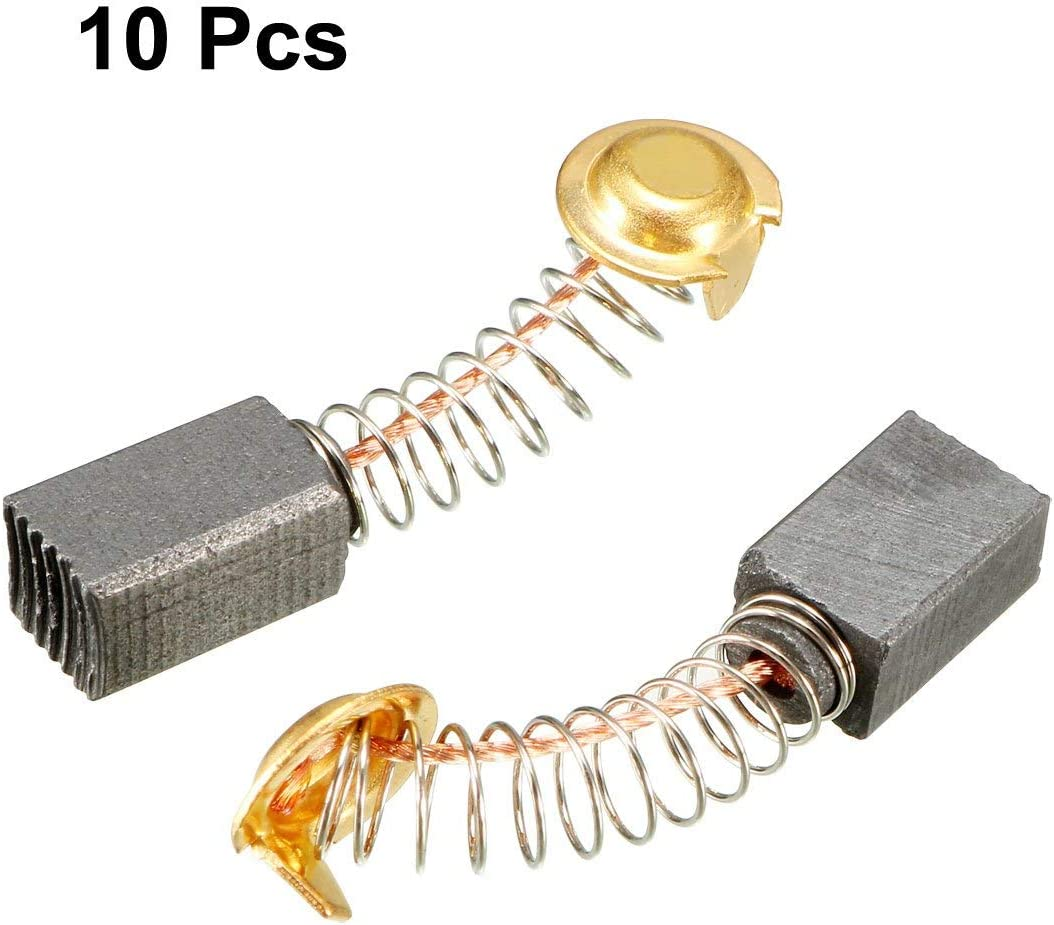 Juego de 10 cepillos de carbono para motores el/éctricos 13 x 7 x 6 mm Sourcingmap