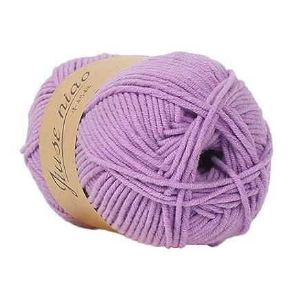 Cooljun Fil de Laine à Tricoter Pull écharpe en Coton - Laine en Acrylique – Assortiment de Couleurs – Idéal pour Tout Projet de Tricot et de Crochet (J2)