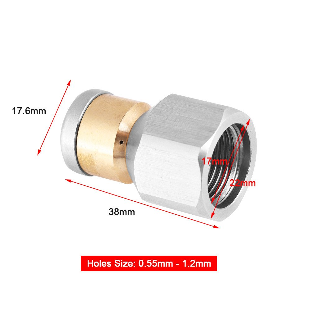 #1 Pressure Sewer Cleaning Pipe Drain Jetter Nozzle 3//8 BSP Male Thread Stainless Steel SS304