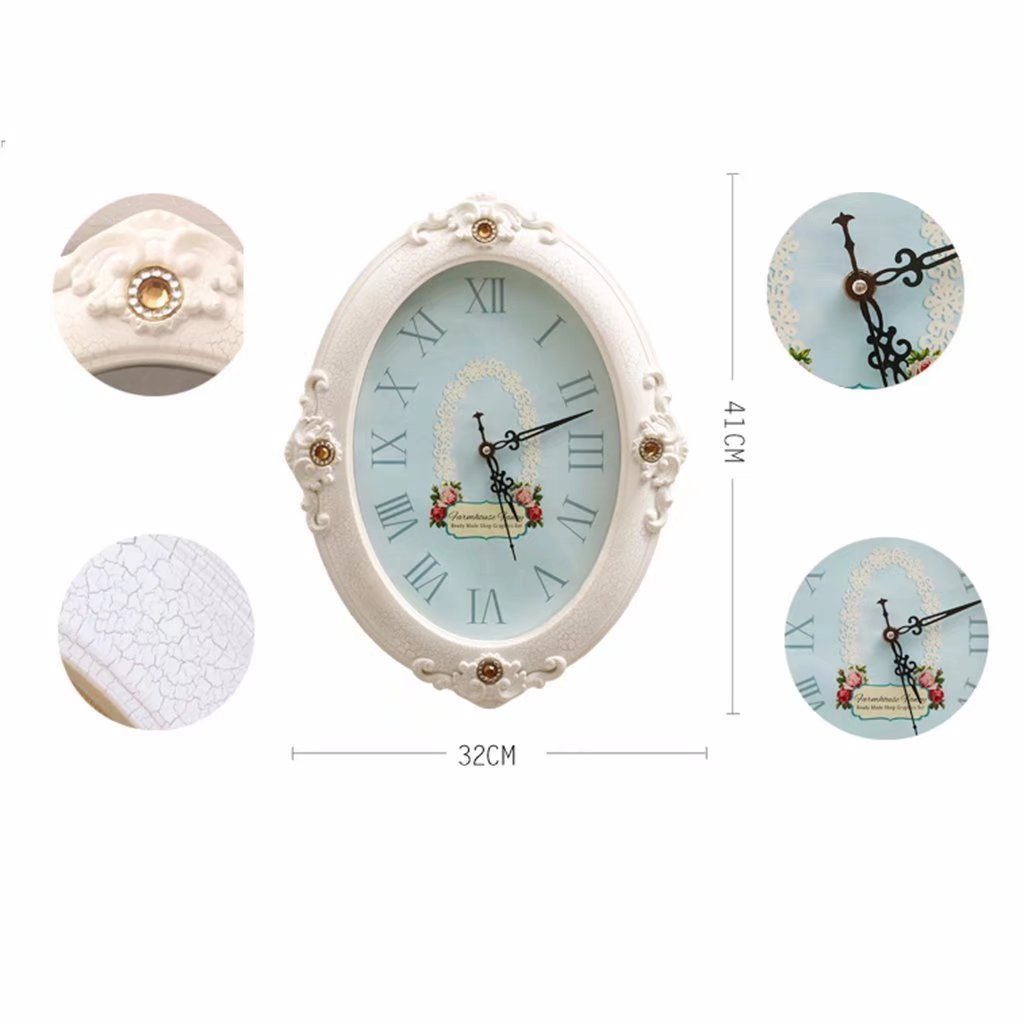 Solid Wood Clock Photo Wall Living Room Bedroom Sofa Frame Wall Creative Combination Of Warm Photo Wall by YZXK (Image #4)