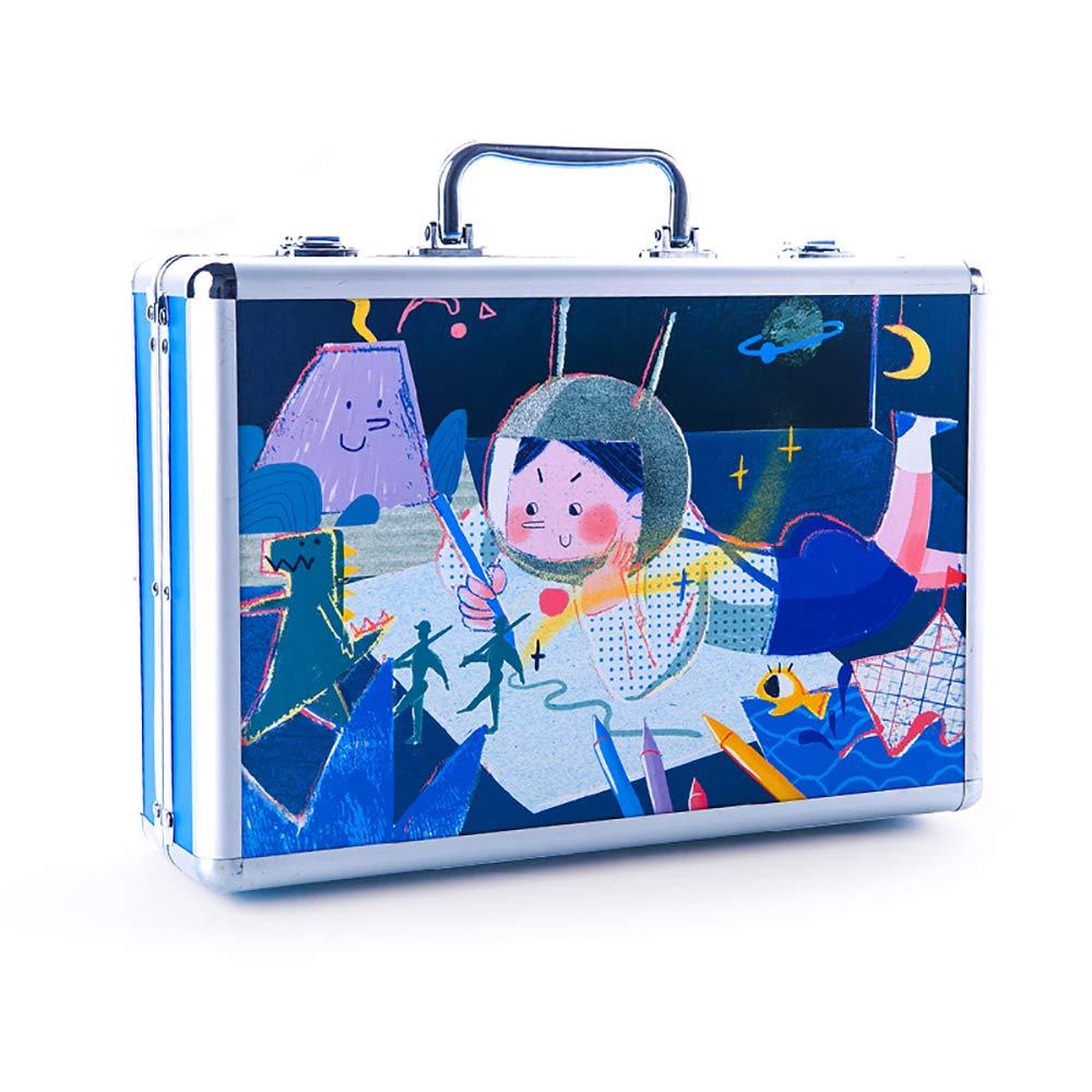 塗装ペン落書きペン子供の絵セット水彩ペンクレヨンオイルパステル文房具描画ペンギフト木箱 blue B07PRJHJX1 blue blue B07PRJHJX1 blue, テソロ:5429b7a2 --- integralved.hu