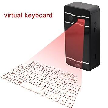 INextStation Wireless Bluetooth Projection Virtual KeyboardUltra Portable Full Size Mini Projector Laser