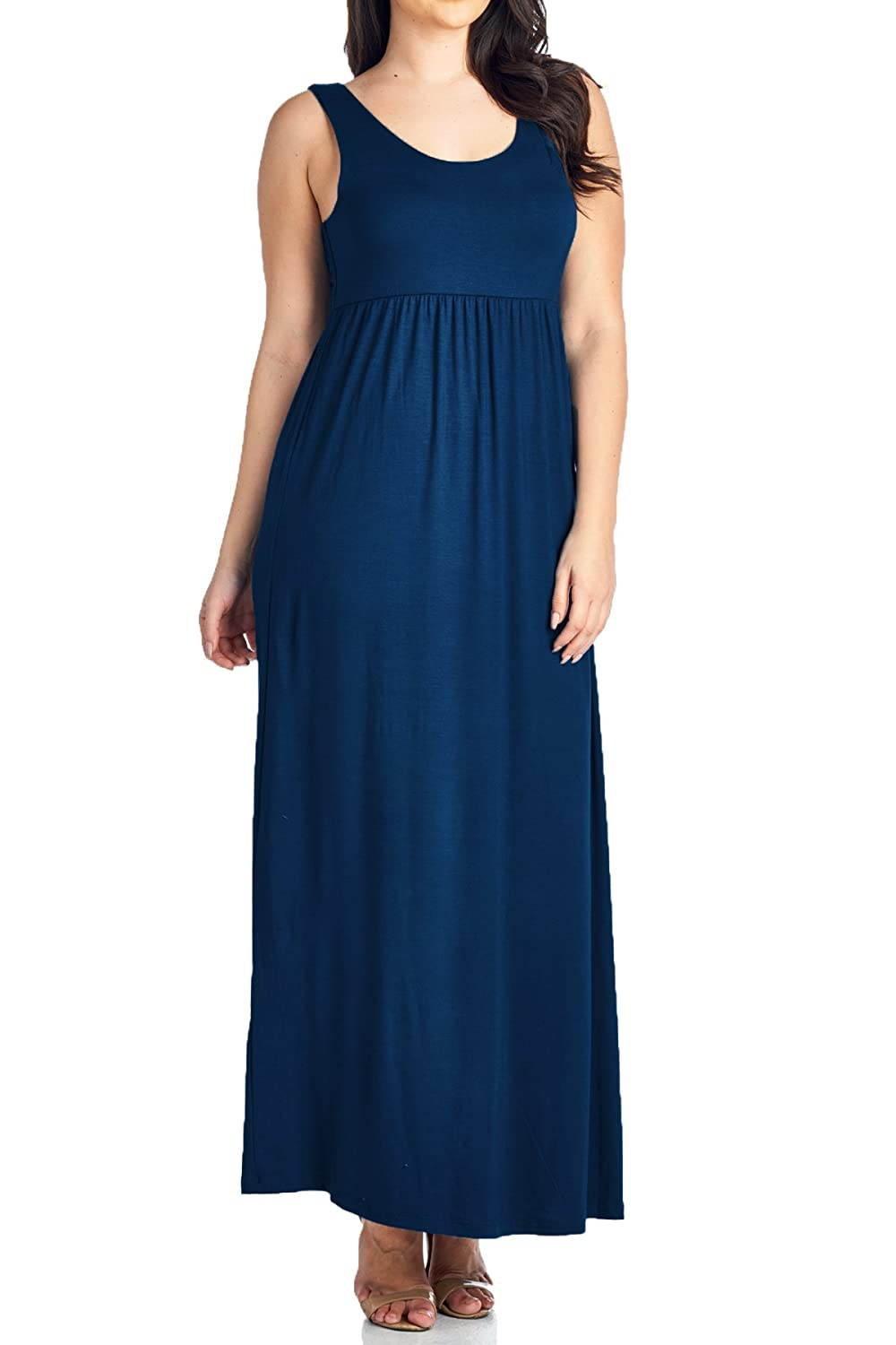 8256bd5af31 Beachcoco Women s Plus Size Maxi Tank Dress at Amazon Women s Clothing  store
