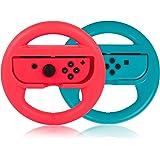 Steering Wheel for Nintendo Switch Controller, PowerLead 2 PCS Racing Wheel Compatible with Mario Kart, Game Controller Wheel