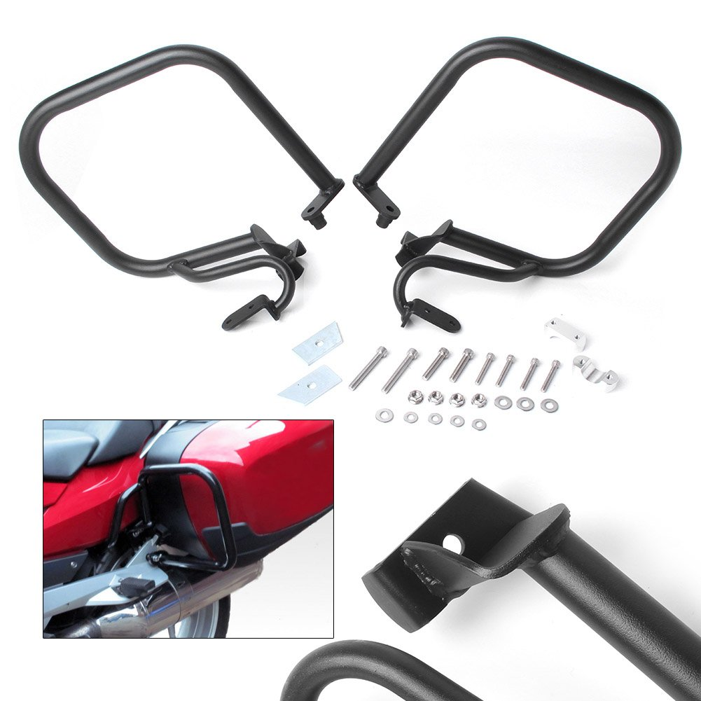 GZYF Black Motorcycle Rear Bumper Highway Crash Bars Engine Protection Guards for BMW R1200RT 2005-2013