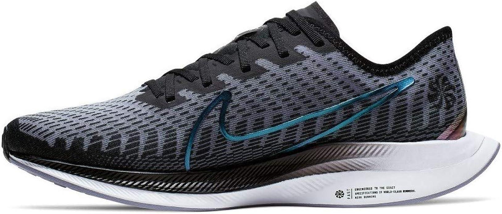 Nike Zoom Pegasus Turbo 2 Rise - Zapatillas de running para mujer, Negro (Negro/Azul marino/Gris), 36 EU: Amazon.es: Zapatos y complementos