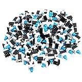 Pukido 300pcs 8 x 8mm 6 Pin Touch Self-Locking On / Off Switch Push Button Switch Latching Switch