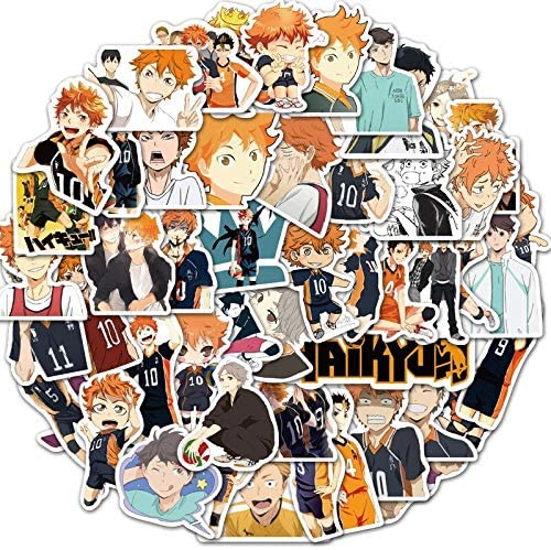 Amazon.com: 50 Pcs Haikyuu! Cartoon Graffiti Anime Sticker Hinata Shoyo for Laptop Luggage Skateboard Phone Decals Scrapbooking Stickers: Arts, Crafts & Sewing