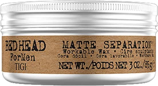 Bed Head 4men Hair Styling Wax, Matte Workable Separation, 85g