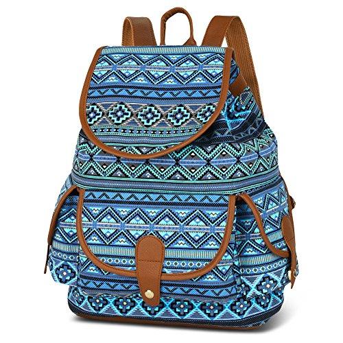(Vbiger Canvas Backpack Casual School Bag Travel Daypack for Girl)