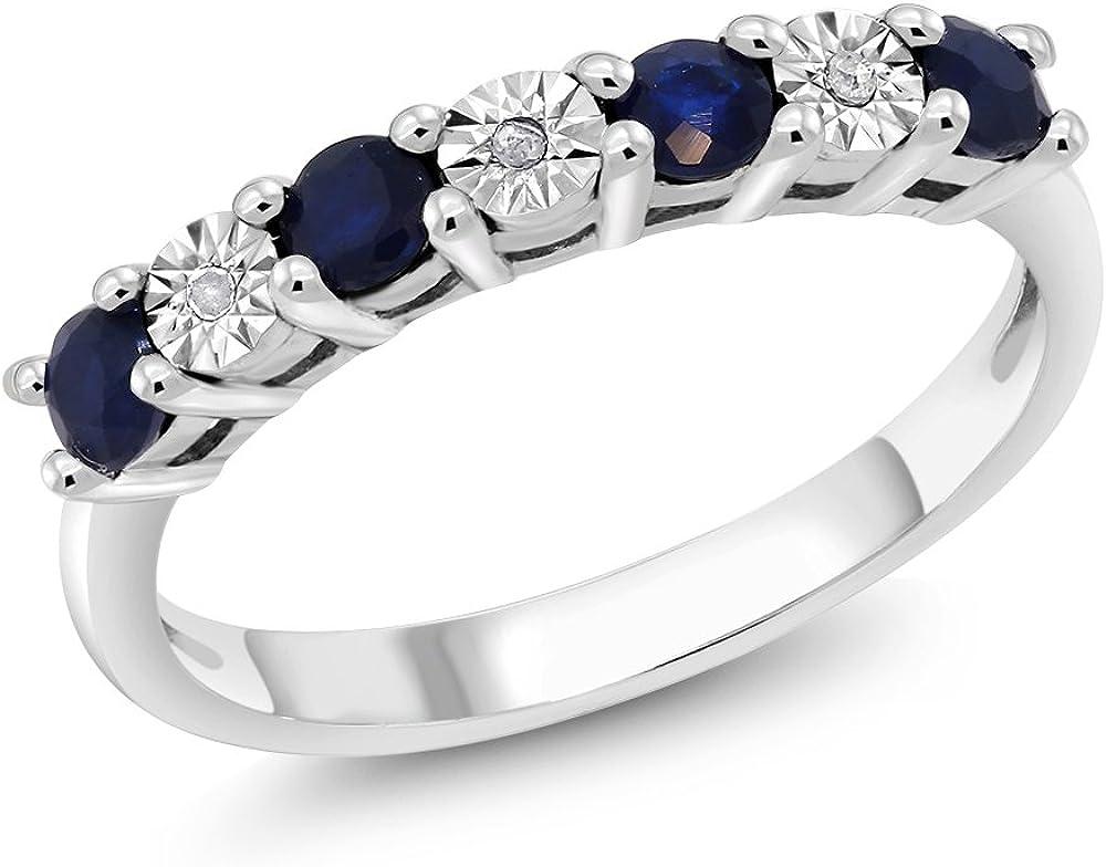 925 Silver Blue Sapphire Ring Diamond Rings Women Gemstone Rings Diamond Gemstone Rings Jewelry Genuine Blue Sapphire Ring